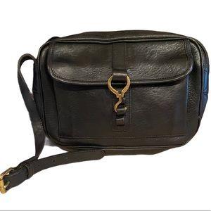 Vintage Ralph Lauren Black Leather Crossbody Bag